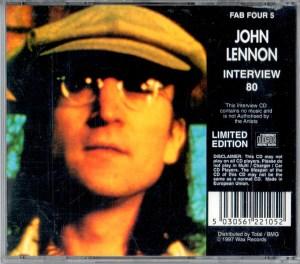 John Lennon Interview 80 CD Back Cover