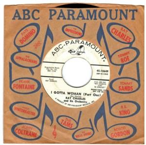 Ray Charles Promo I Gotta Woman ABC-Paramount 45-10649