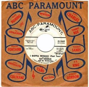 Ray Charles i gotta woman promo 45