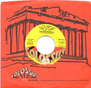 The Devonnes I'm Gonna Pick Up My Toys 45 rpm Promo single