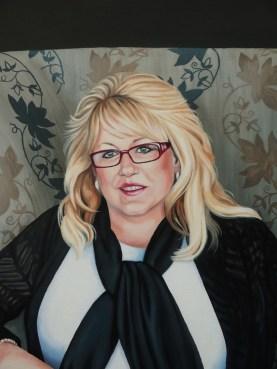 Mrs. Gladden. detail of face