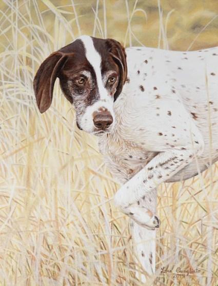 """""""Charlee"""" German Shorthair. 16x20"""" oil portrait"""