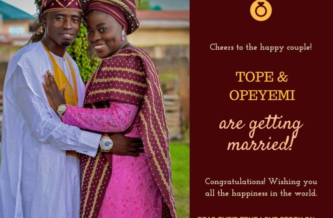 Tope & Opeyemi lqueenwrites true love stor
