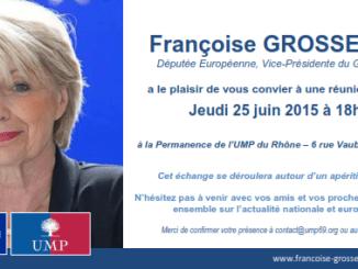 Réunion militante avec Françoise Grossetête