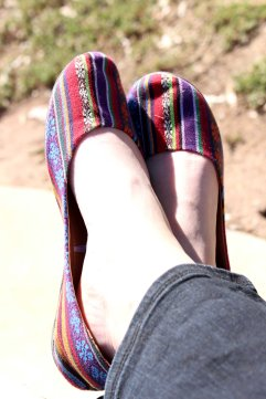Your Shoes: colourful, comfy, kick-on and off...what more could you ask for??