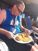 Poolside hamburgers....not appetizing for me!