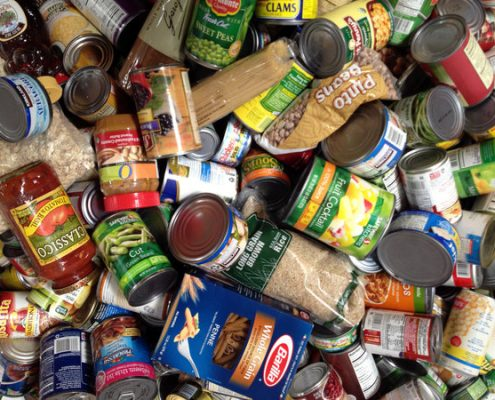 "Peanut butter, canned tuna and canned fruits in natural juices are among the ""superfoods"" on Feeding America San Diego's list of requested donations"
