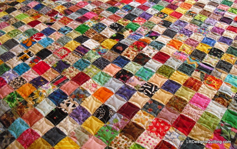 3584 Charms Later Postage Stamp Quilt Is Done