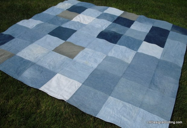 Denim quilt back