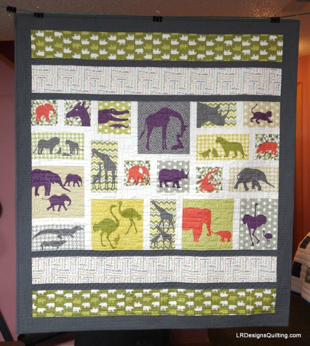 Animal quilt for Audrey