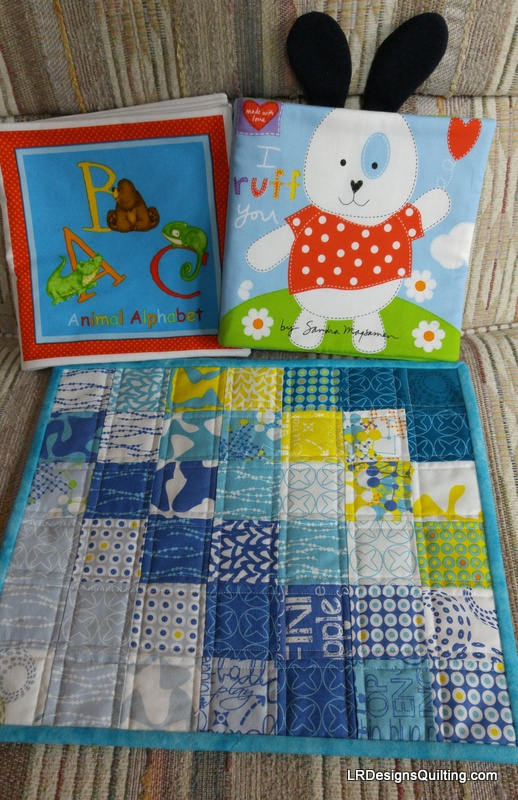 Cloth books and dolly quilt for Skylar