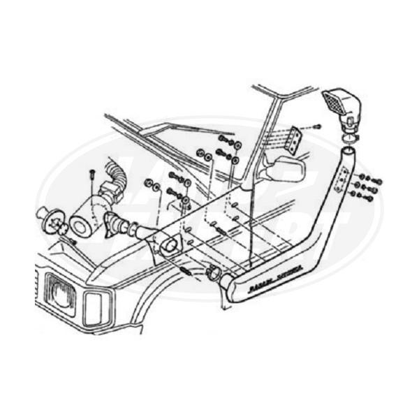 SNORKEL SAFARI LAND ROVER DISCOVERY 3.5L / 3.9L V8 DO 1994