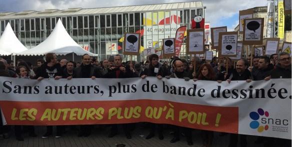 La marche des auteurs à Angoulême