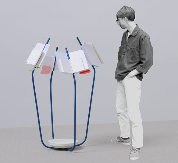 Jean-Christophe Devatine. L'espace bibliographique. Micro-architecture de modules permettant de proposer des bibliographies physiques lors d'expositions ou de manifestations.