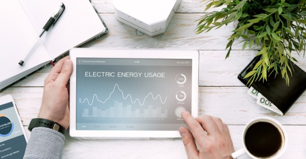photo of iPad discussing energy usage for DIY audit