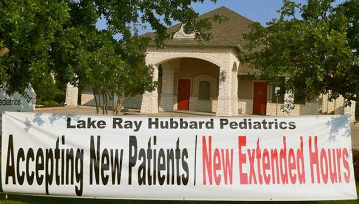 Lake Ray Hubbard Pediatrics before the tornado.