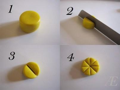 Første trin til citron canes af cernit eller fimo