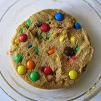 Chocolate chip cookie i mikroovn