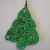 Hæklede juletræer - DIY