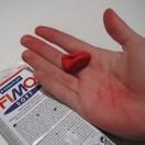 Rød farve smitter af1