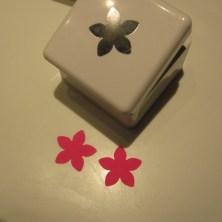 blomster, udstanset med x-cut stansejern