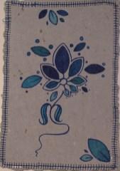 Artmoney med en blå blomst