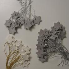 Små stjerner af hjemmelavet selvhærdende ler