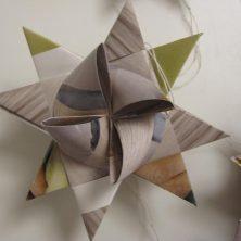 Stor flettet julestjerne af genbrugs papir - Bæredygtig jul