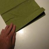 Fold servietter som en vifte - fold frem og tilbage