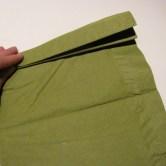 Fold servietter som en vifte - frem og tilbage