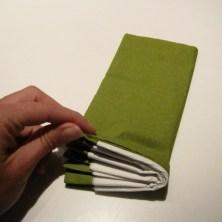 vifte servietter i to farver