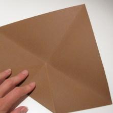 fold en kvadratisk æske - trin 5