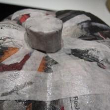 Sådan laves stilken på et papmache græskar