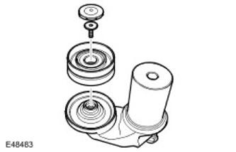 Промежуточный шкив ремня привода 2.7L Discovery 3