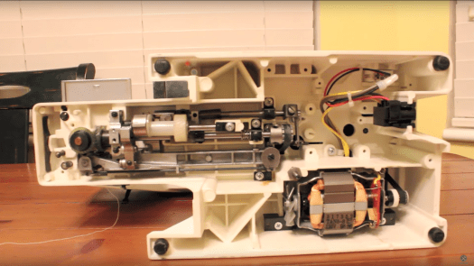 Inside of Sewing Machine