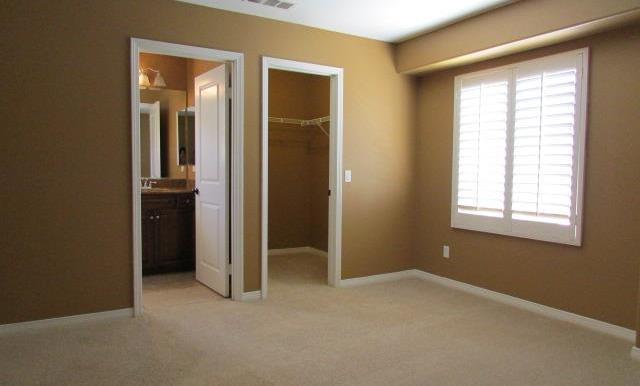 Mini-Master has a walk in closet and it's own private bathroom.