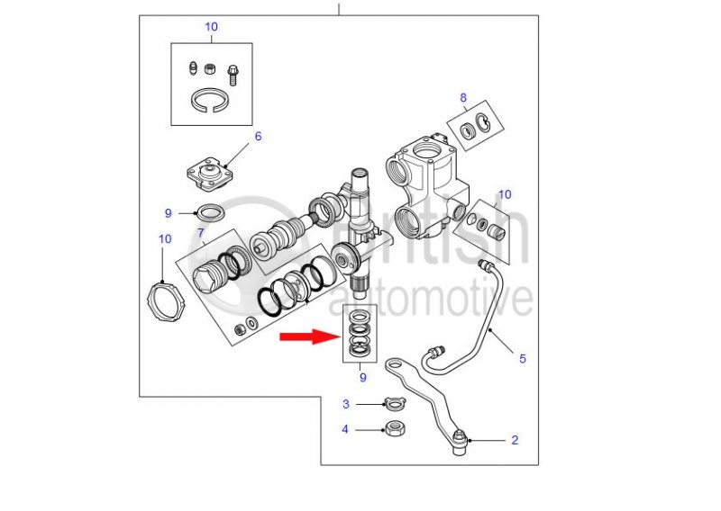 LAND ROVER DISCOVERY 2 NEW POWER STEERING BOX SEAL REPAIR