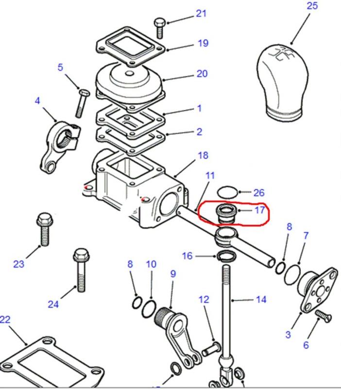 FRC5076- vymezovací kroužek řazení redukční převodovky