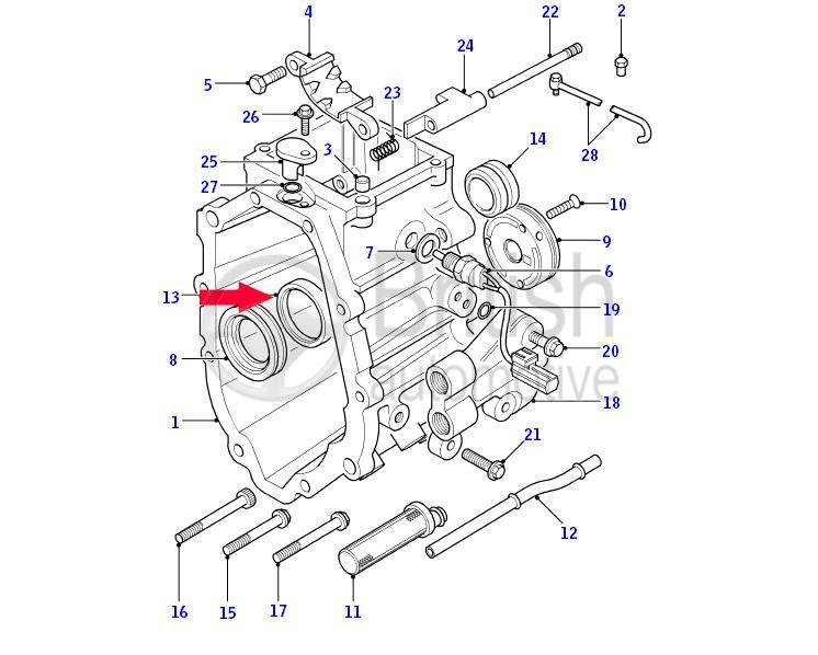FTC2383 (FTC500010)- těsnění zadní hřídele převodovky R380