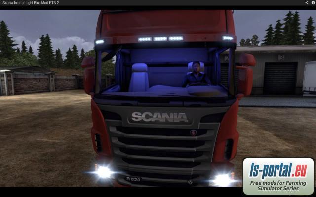 Scania Interior Light Blue Mod ETS2 Mod Mod For Euro