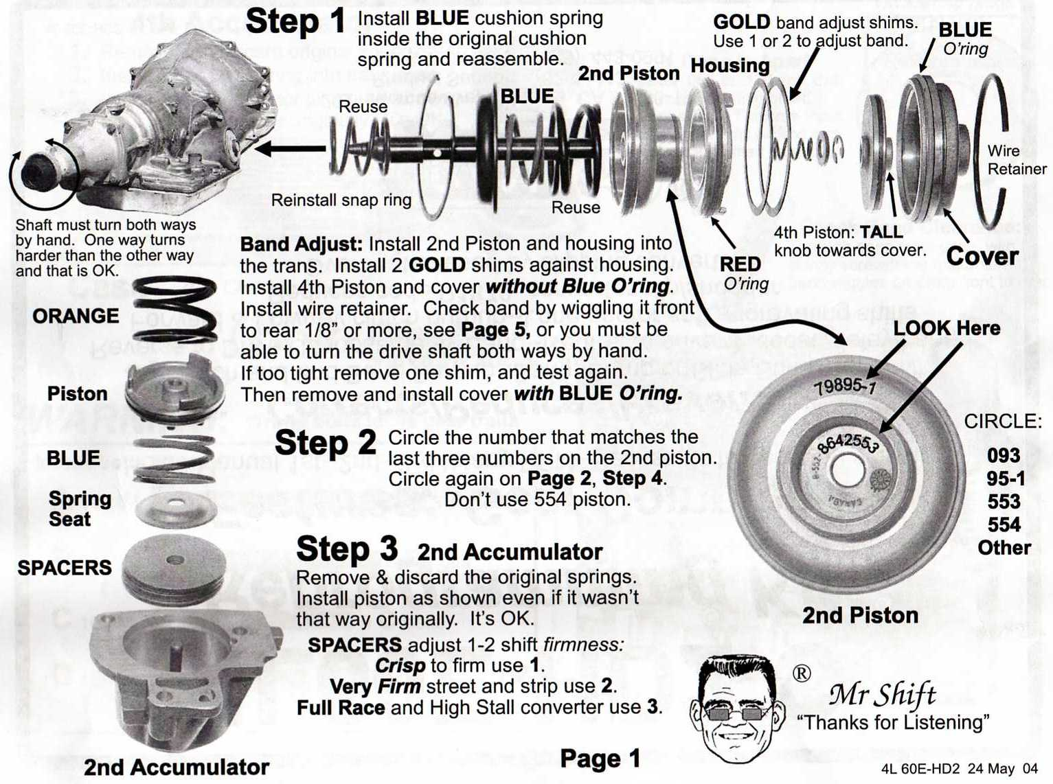 4l80e servo piston parts diagram