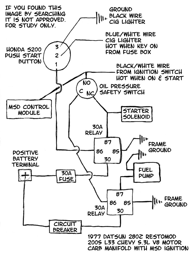 1977 Datsun 280z Engine Compartment Wiring Diagram I