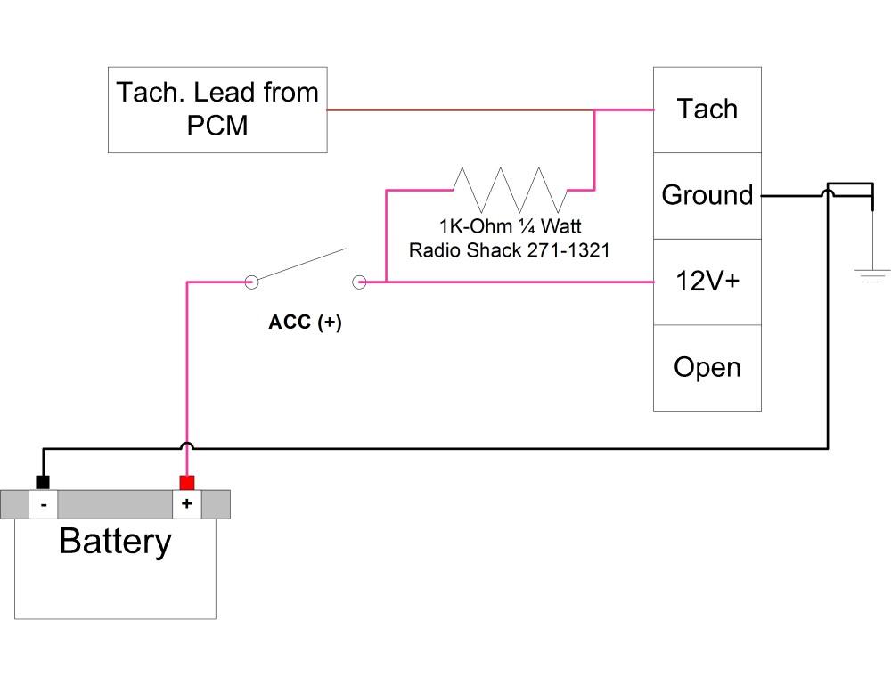 medium resolution of vdo tach install lessons learned pull up jpg