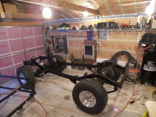 small resolution of jeep yj 5 3l swap completed painted frame jpg