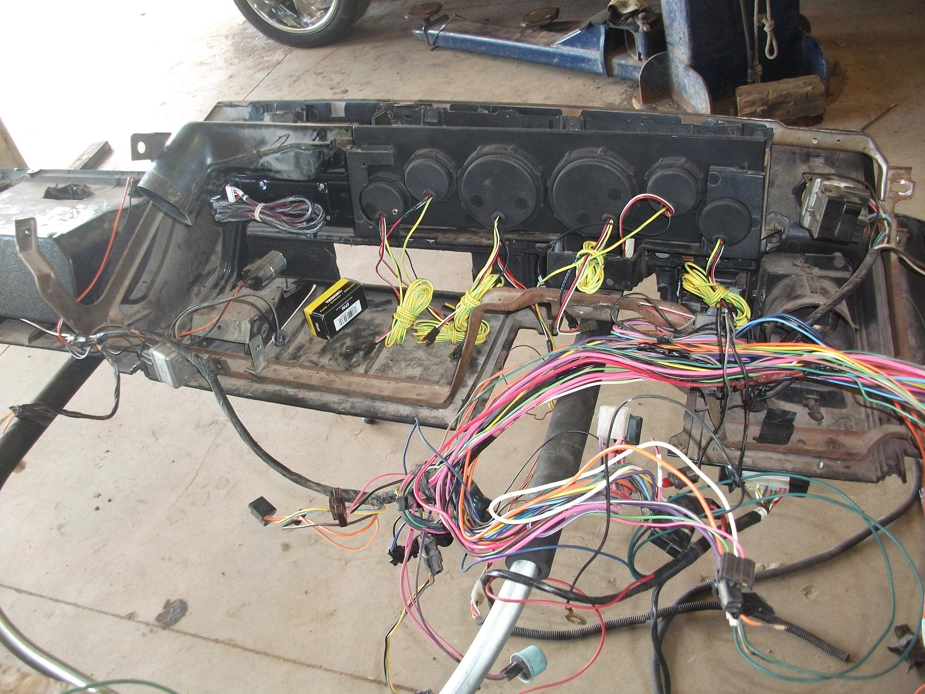D Ly L E Chevelle Dash Wiring Before