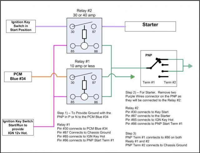 Need PNP Park Neutral Switch Wiring Diagram Or Pin Outs