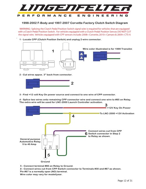 small resolution of  diagrams u2022 82 corvette ecm wiring lnc 2000 install issues lnc clutch switch page jpg