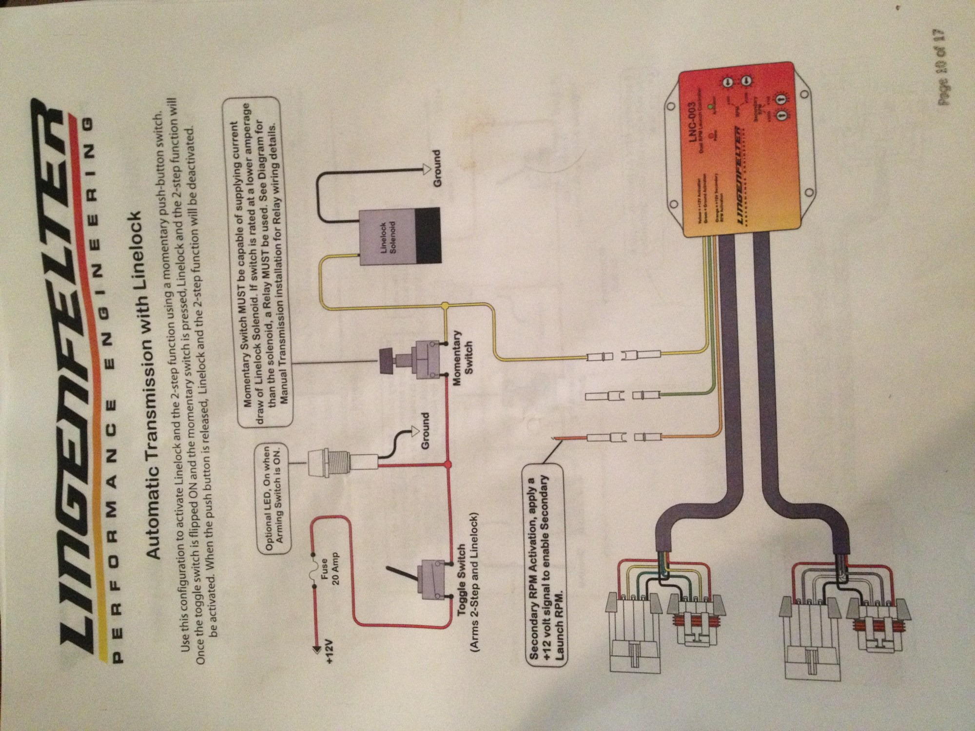 hight resolution of lpe 2 step wiring for 4l60e with line lock amp no trans brake image