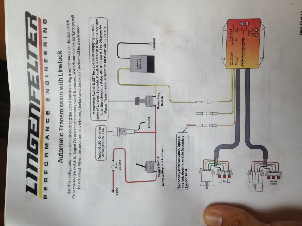 medium resolution of lpe 2 step wiring for 4l60e with line lock amp no trans brake image