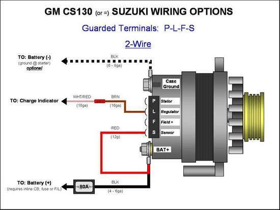 Two Wire Alternator Wiring Diagram